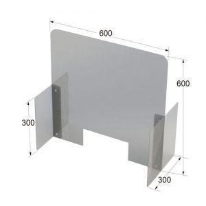 ウイルス対策飛沫防止パーテーション600x600 サイズ