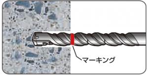 グリップアンカー施工方法 穿孔